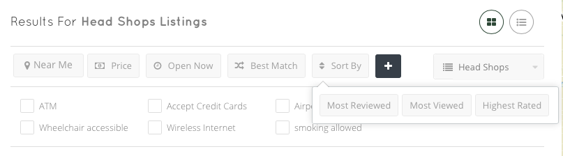 CannaMaps Search Filter